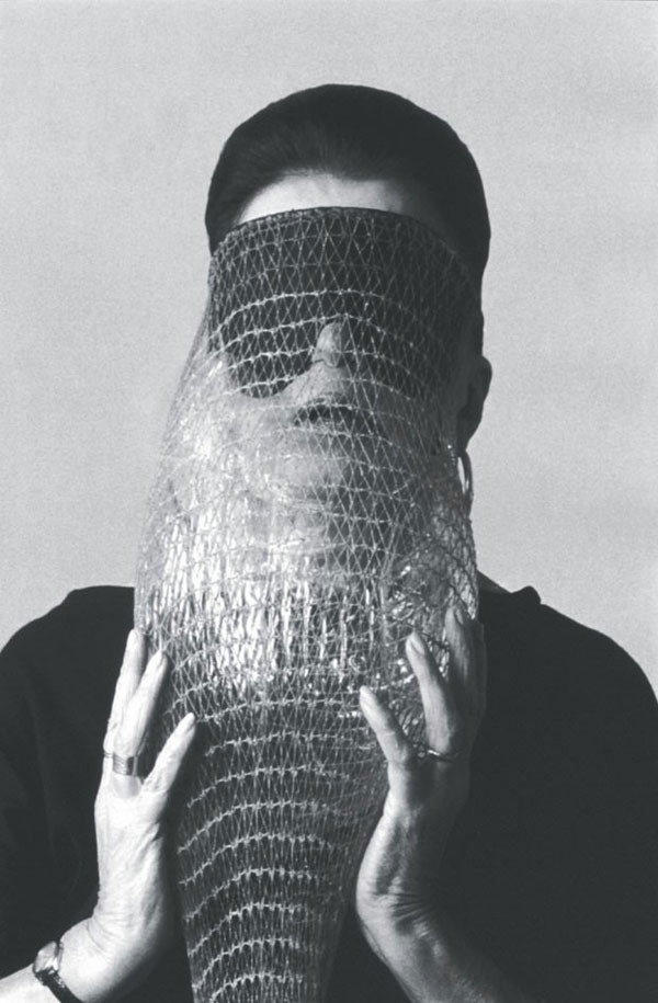Day 2. Lygia Clark wearing the Abyss Mask (1986)
