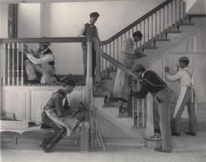 Frances-Benjamin-Johnston.-Stairway-of-the-Treasurers-Residence--469x370